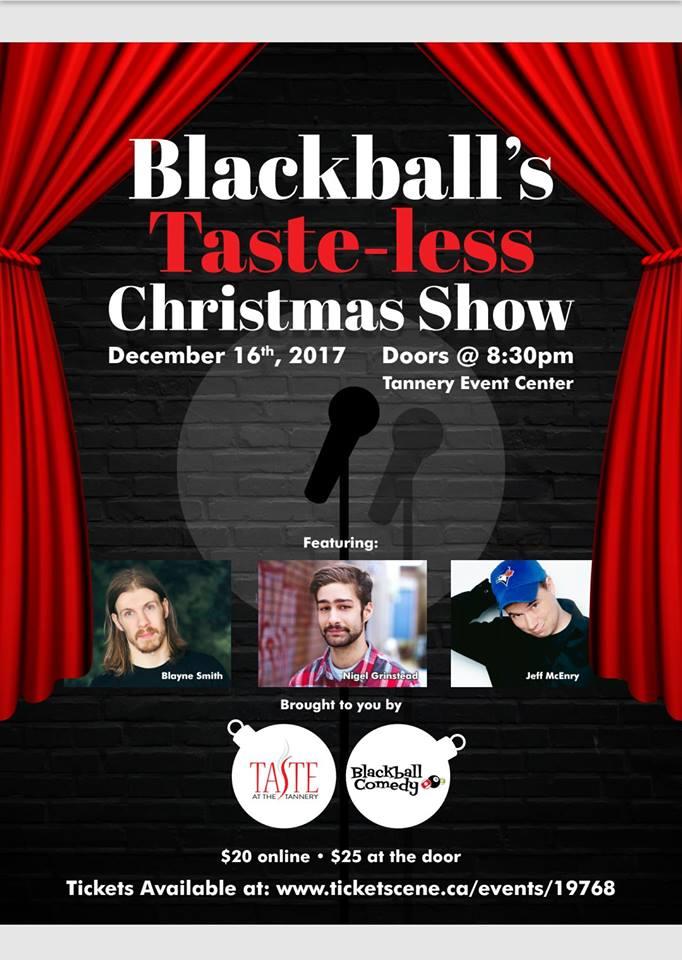 Blackball Comedy S Tasteless Xmas Party Jeff Mcenery