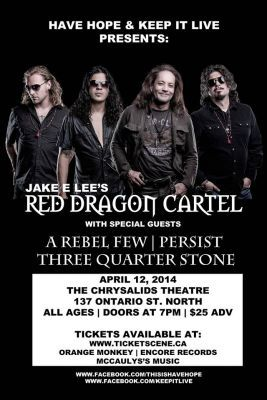 Jake E Lee's Red Dragon Cartel @ Kitchener