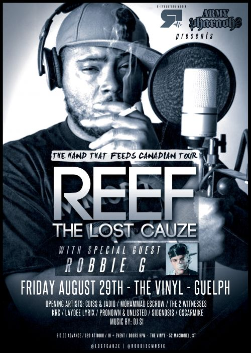 Reef The Lost Cauze Of Aotp Live In Guelph At Vinyl Friday
