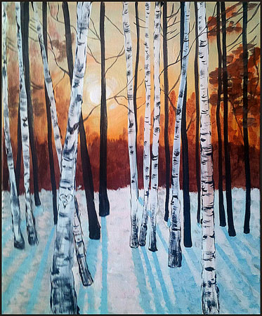 paint bar painting winter birch trees on feb 16