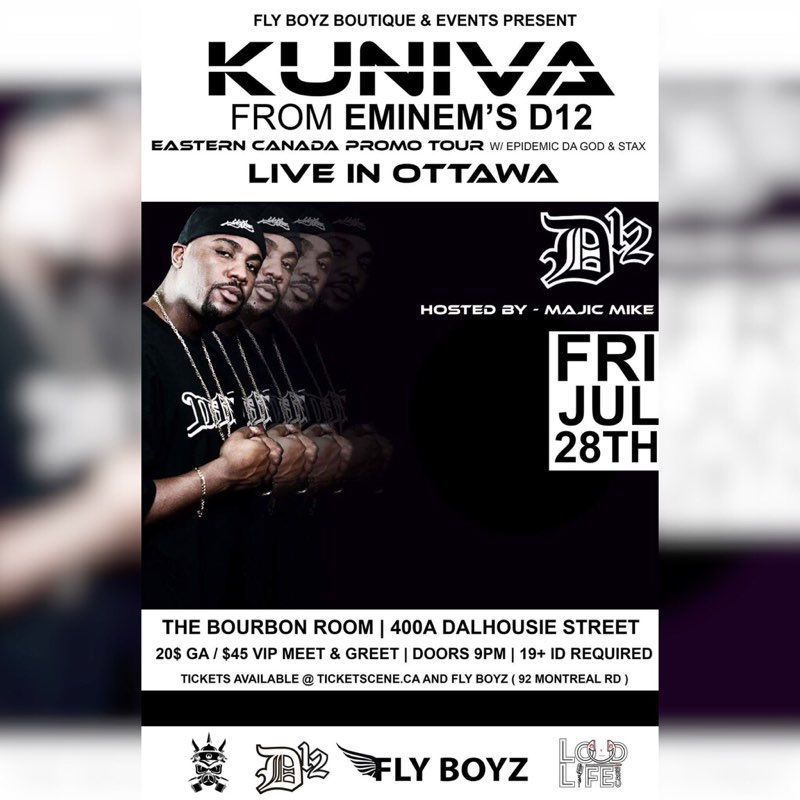 Swifty mcvay from eminems d12 live kuniva ottawa on live at the swifty mcvay from eminems d12 live kuniva ottawa on live at the bourbon room july 27 2017 m4hsunfo