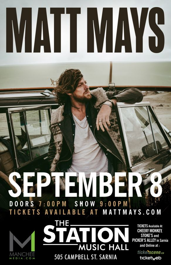 Matt Mays LIVE in Sarnia with special guests