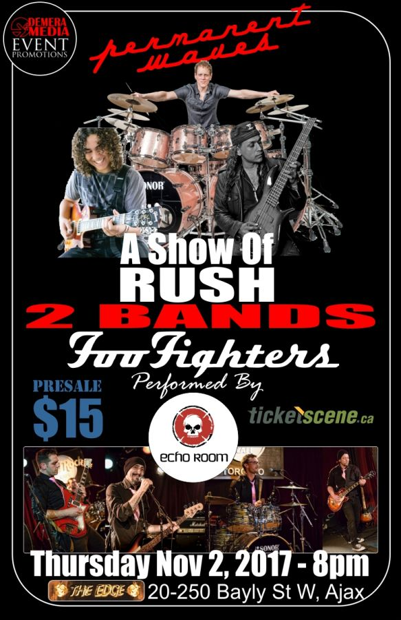 Foo Fighters & RUSH - A celebration of their music . 2 live acts