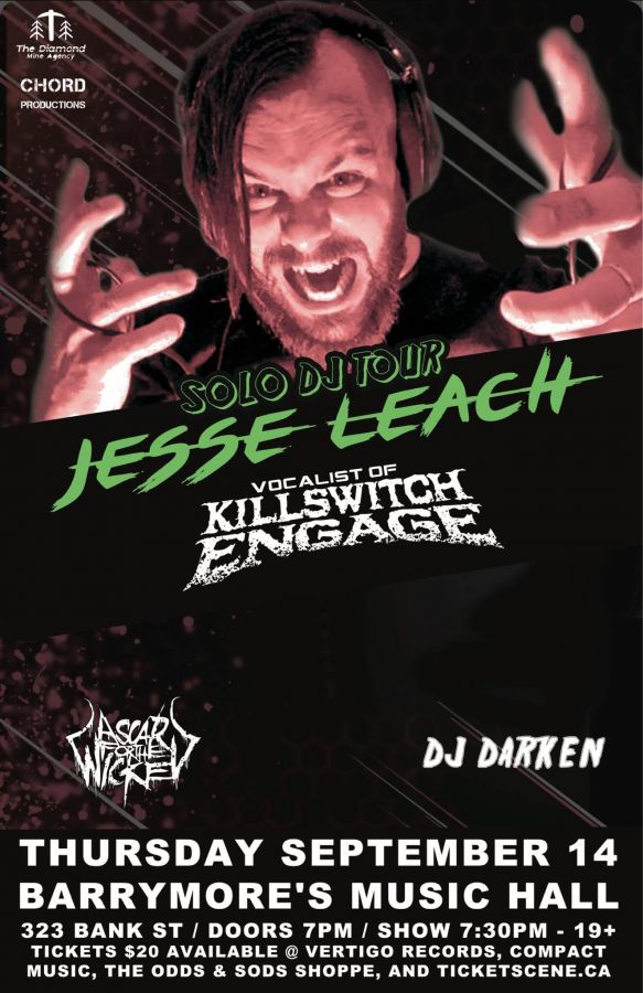 Jesse Leach (Killswitch Engage) Solo Tour Live In Ottawa 09/14)