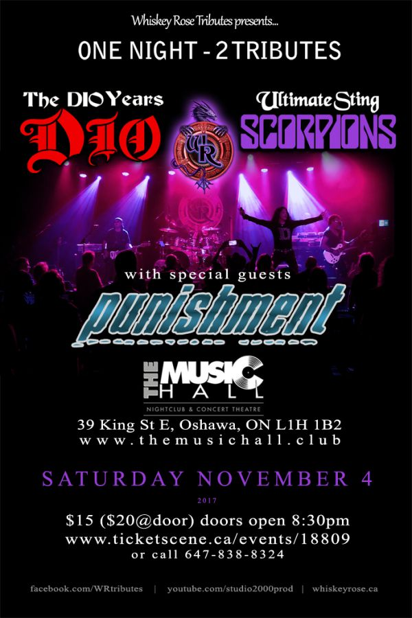 DIO & SCORPIONS tributes / with Punishment (Whiskey Rose Tributes)