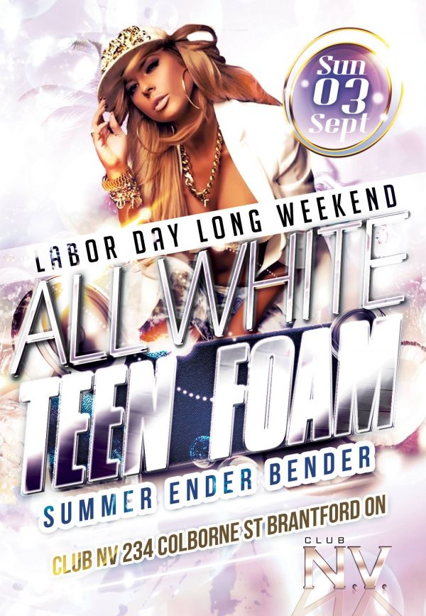 Teen Foam 7 All White Summer Ender Bender