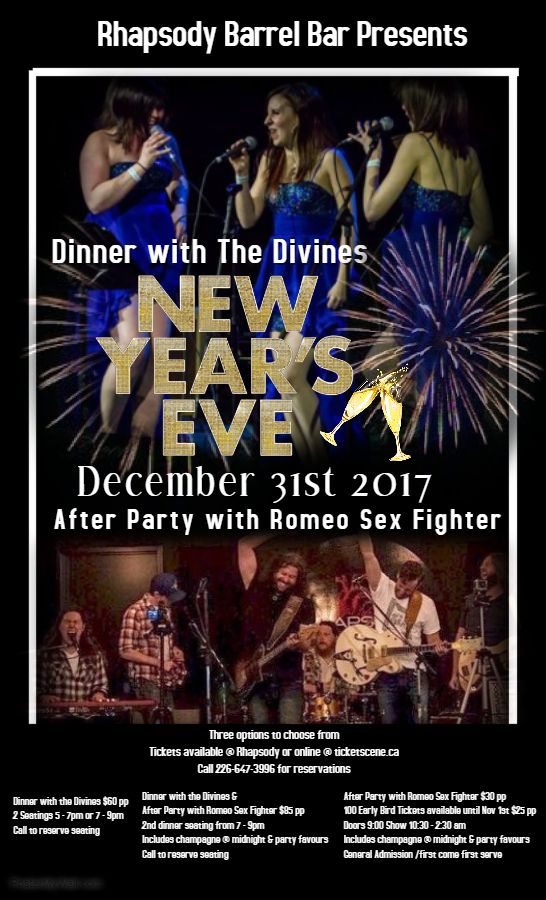 New Years Eve with the Divines and Romeo Sex Fighter