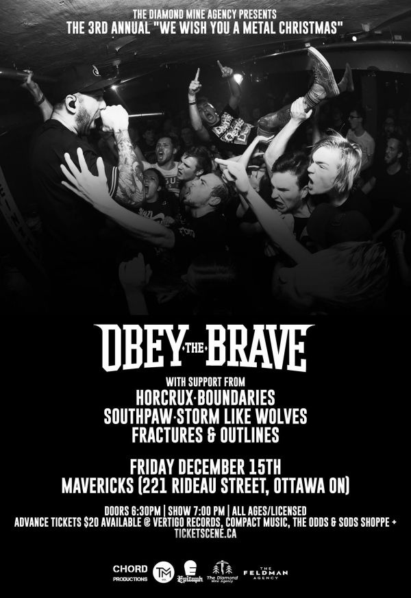 We Wish You A Metal Christmas With Obey The Brave - Ottawa 12/15