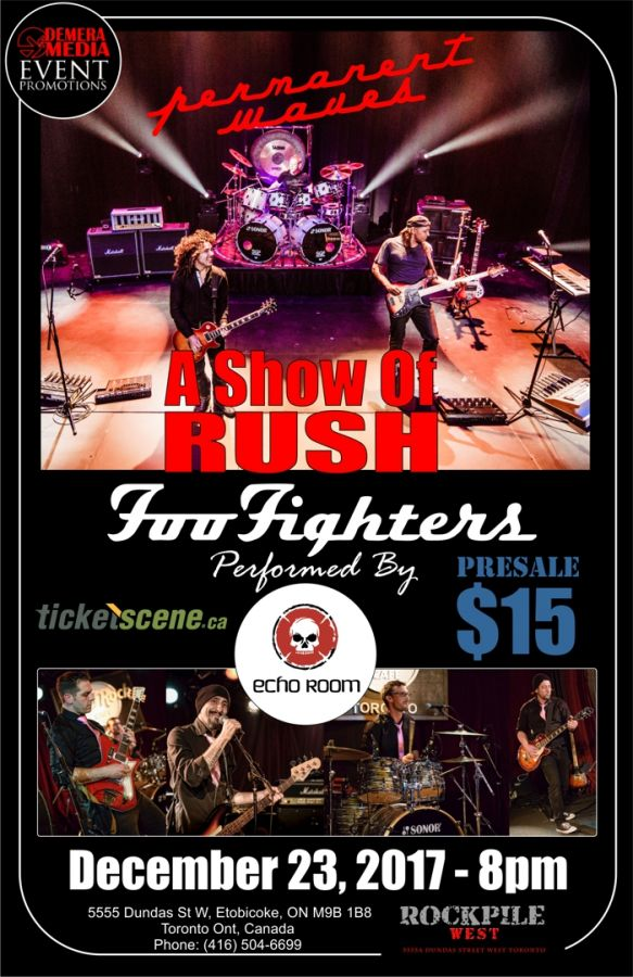 RUSH & The FOO FIGHTERS (Tribute Celebration Of Their Music) -