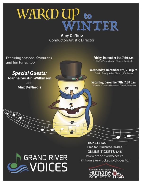 The Grand River Voices Invite You to Warm Up to Winter