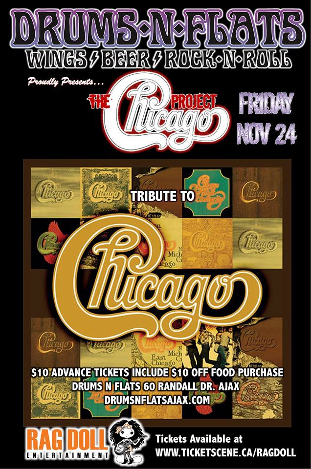 THE CHICAGO PROJECT- A Fabulous 9 Piece Band Playing Chicago's Greatest Hits