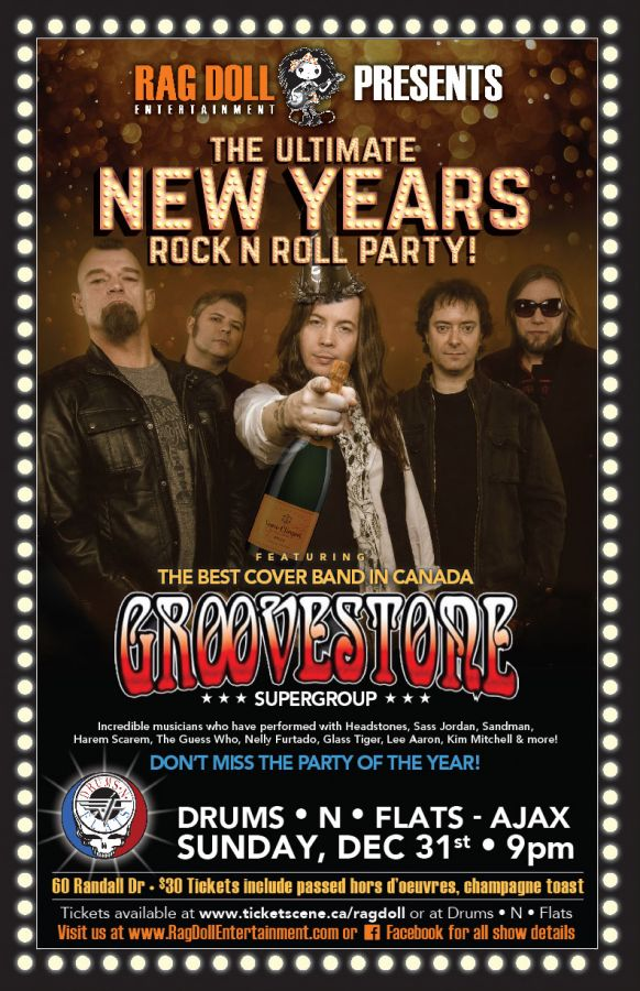 GROOVESTONE - The Ultimate New Year's Eve Rock N Roll Party!