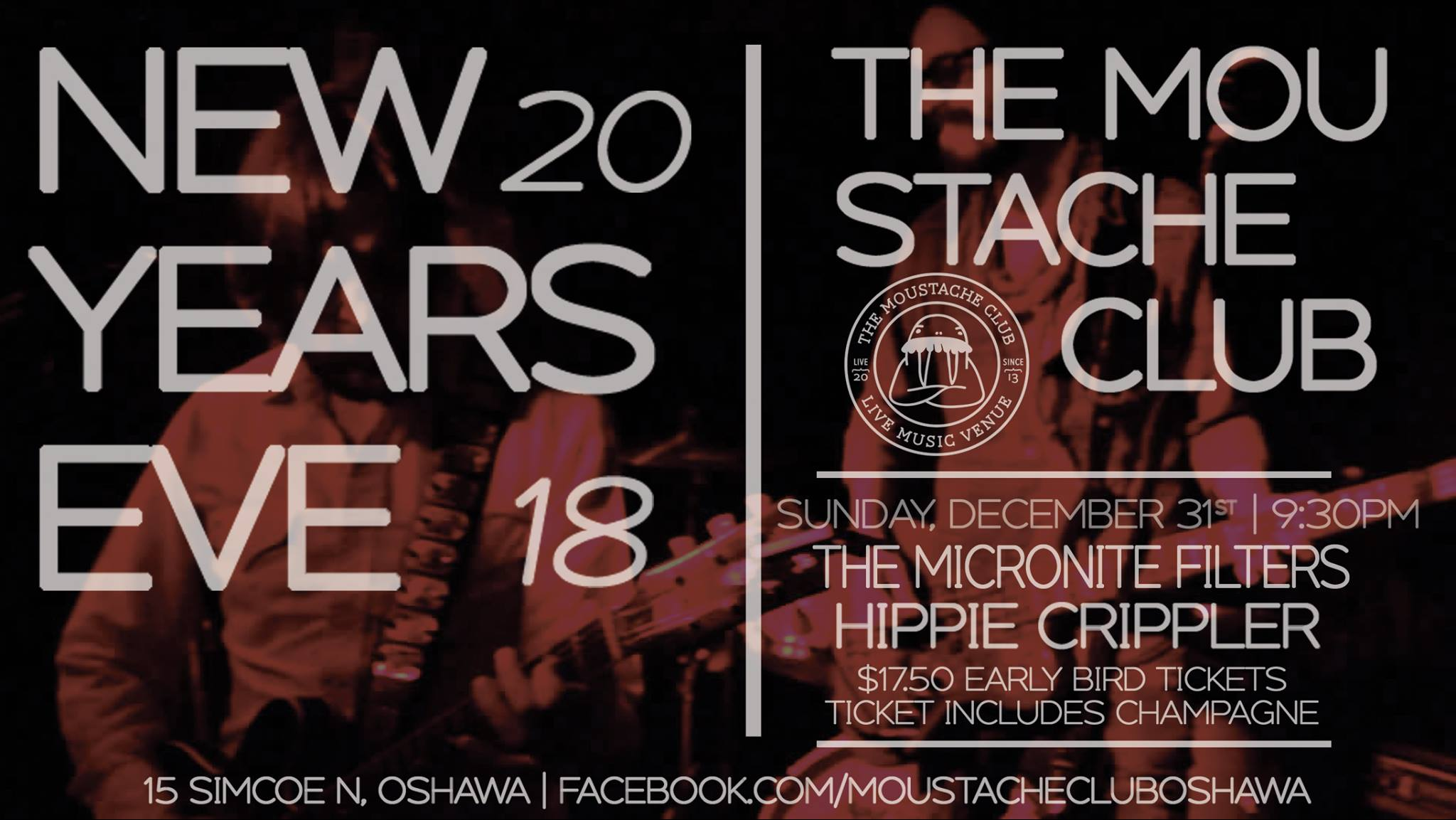 New Years 2018 at The Stache w/ The  Micronite Filters and Hippie Crippler