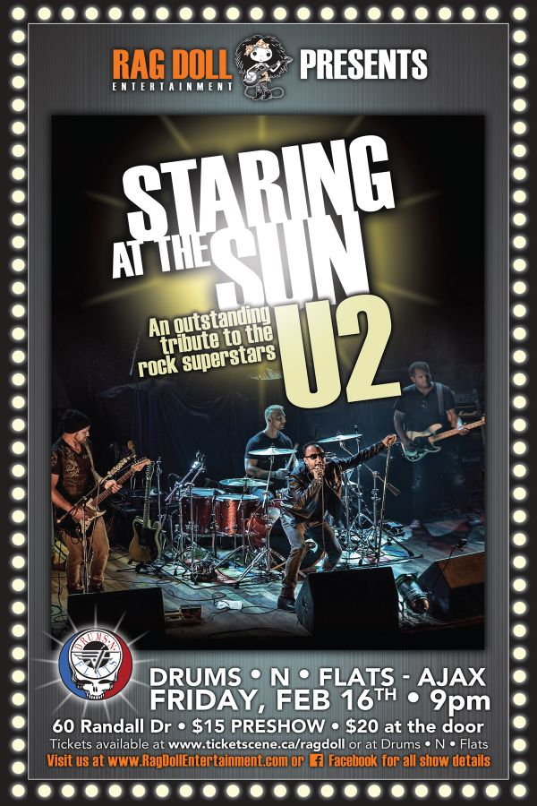 STARING AT THE SUN - Outstanding Tribute to Rock Superstars U2