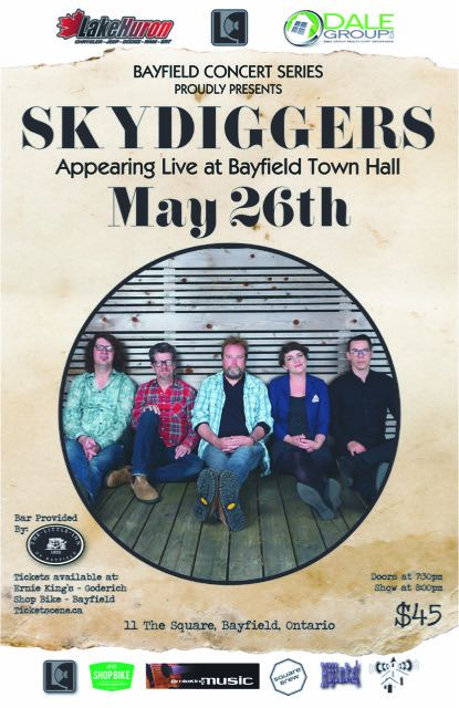 Skydiggers live at the Bayfield Concert Series