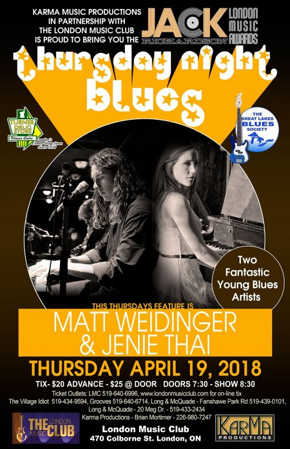 Matt Weidinger & Jenie Thai @ the LMC!