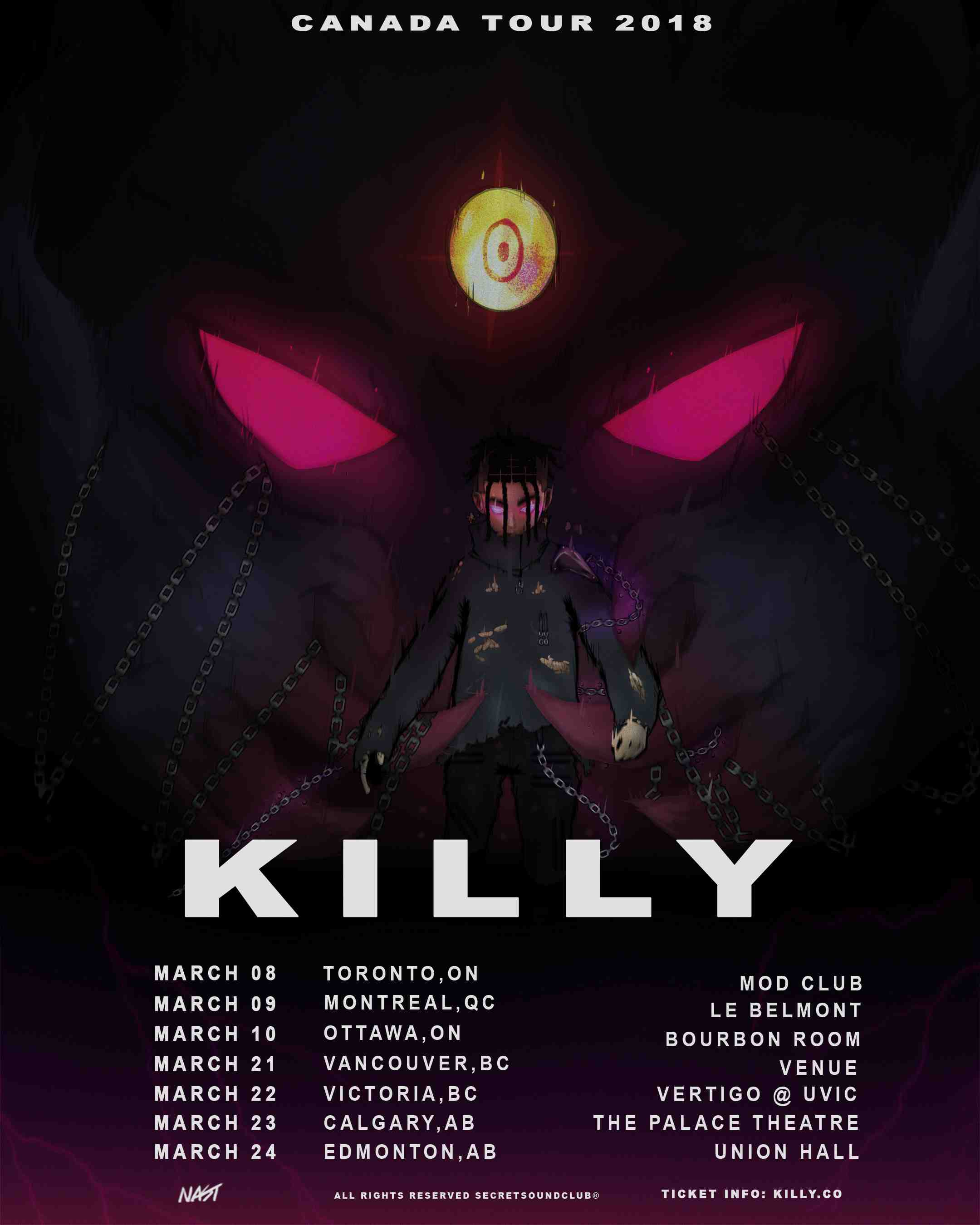 KILLY Live In Ottawa March 10th