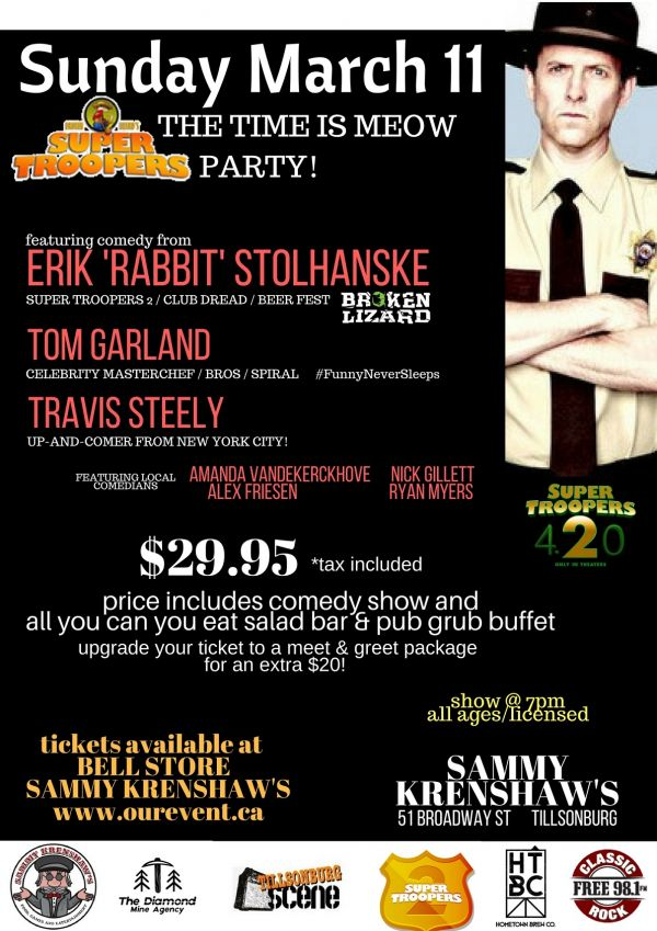 Erik 'Rabbit' Stolhanske of Super Troopers  - Live In Tillsonburg!