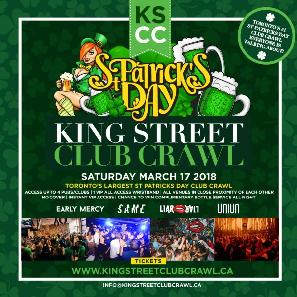 Toronto St. Patty's Day King Street Club Crawl
