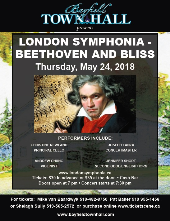 Bayfield Town Hall presents London Symphonia performing, Beethoven and Bliss