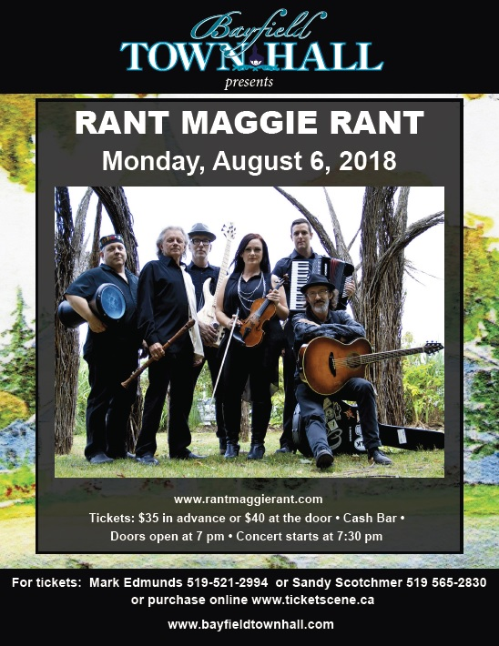 Bayfield Town Hall presents, Rant Maggie Rant Live!