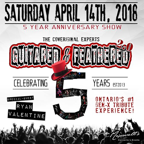 Guitared & Feathered 5 Year Anniversary Show