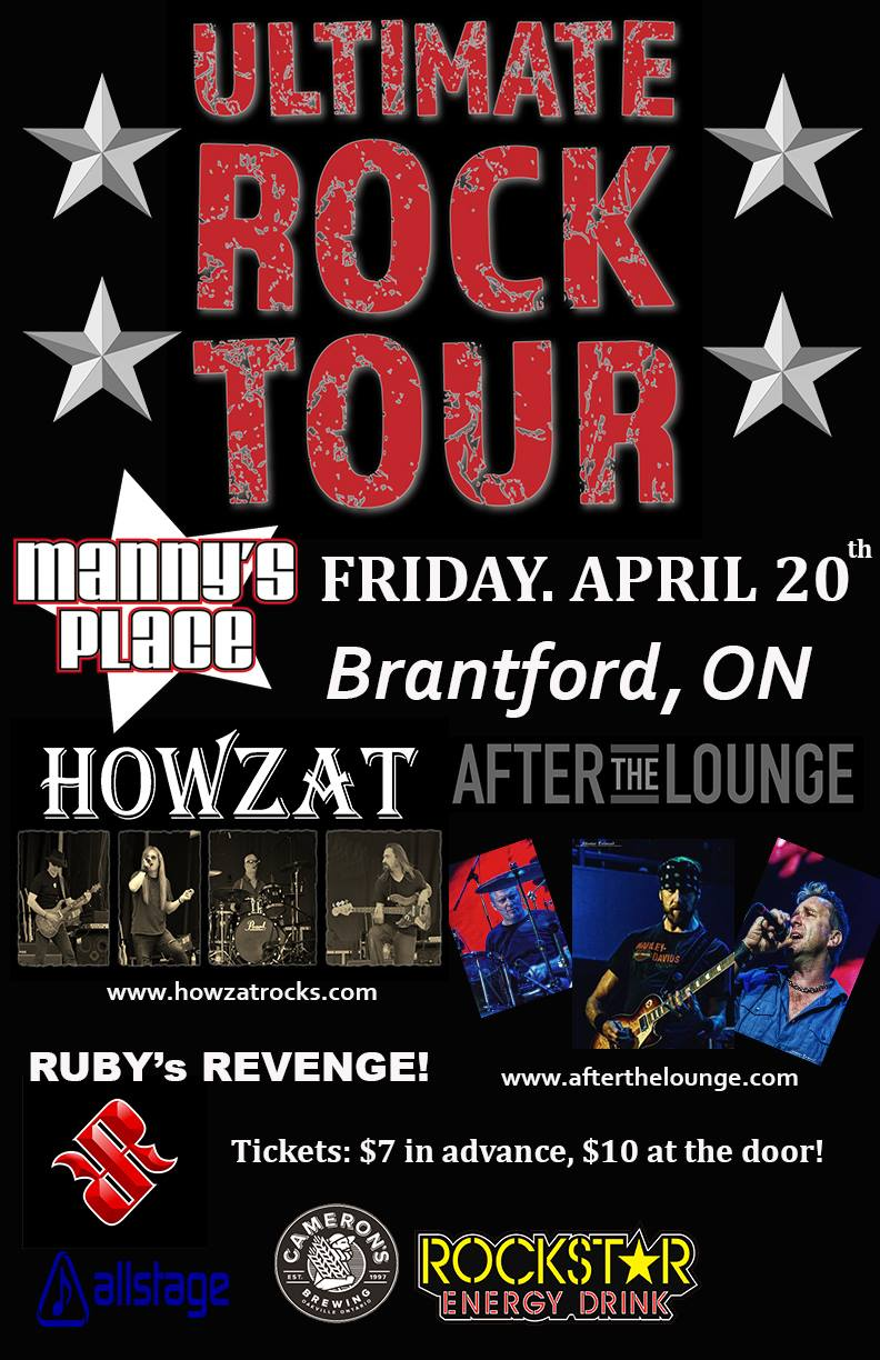 Ultimate Rock Tour- 2018 ... After The Lounge, Howzat and Rubys Revenge