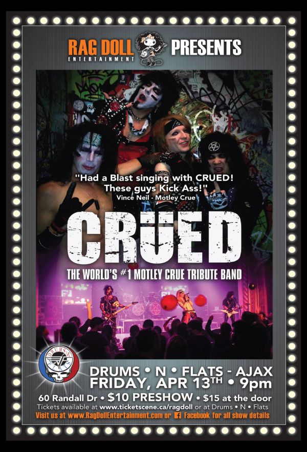 CRUED - The Notorious Motley Crue Tribute Band!