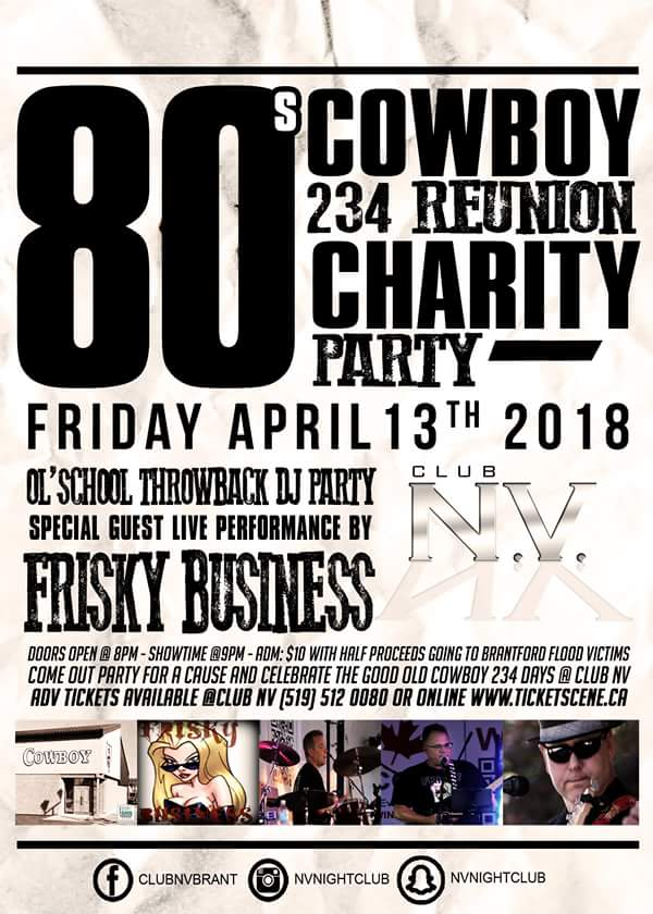 80's Cowboy Reunion Charity Party