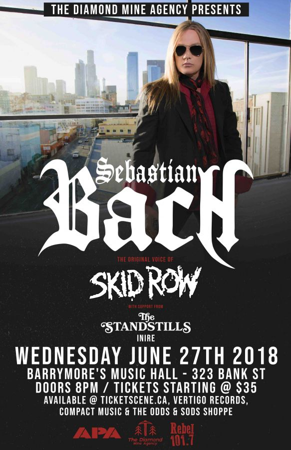 Sebastian Bach (Skid Row) + The Standstills Live In Ottawa