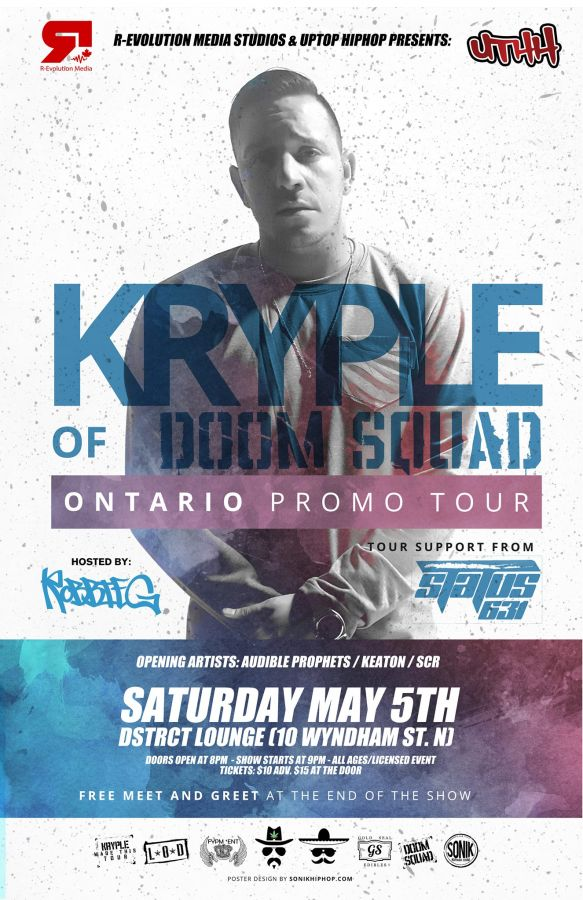 Kryple of Doom Squad live in Guelph at dstrct lounge May 5th