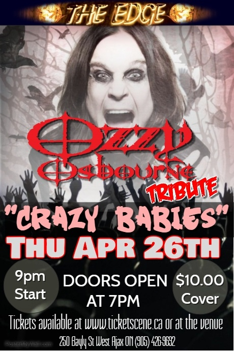 Ozzy Osborne Tribute featuring