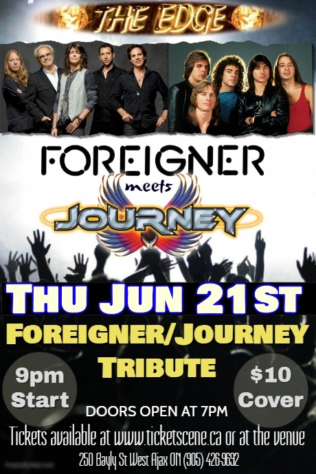 Foreigner/Journey Tribute featuring