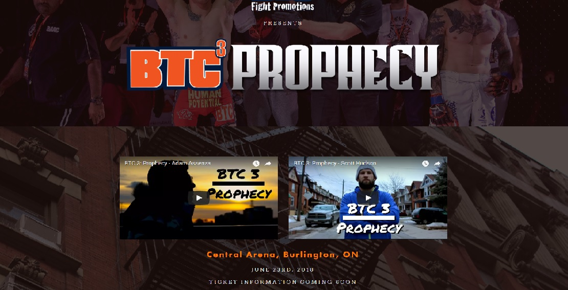 BTC Fight Promotions presents BTC3 Prophecy - PRO MMA SHOW -