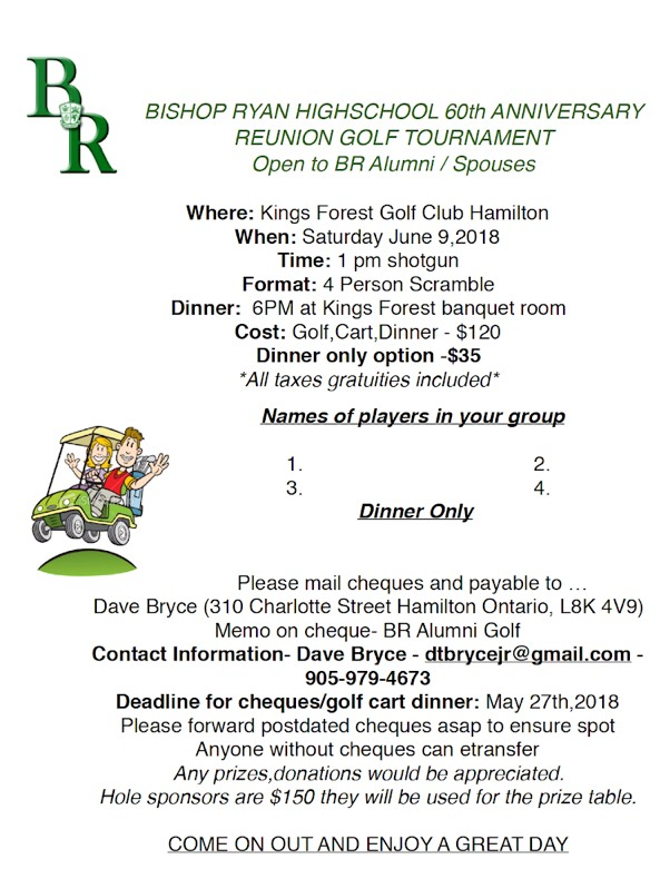 Bishop Ryan Alumni Golf Tournament