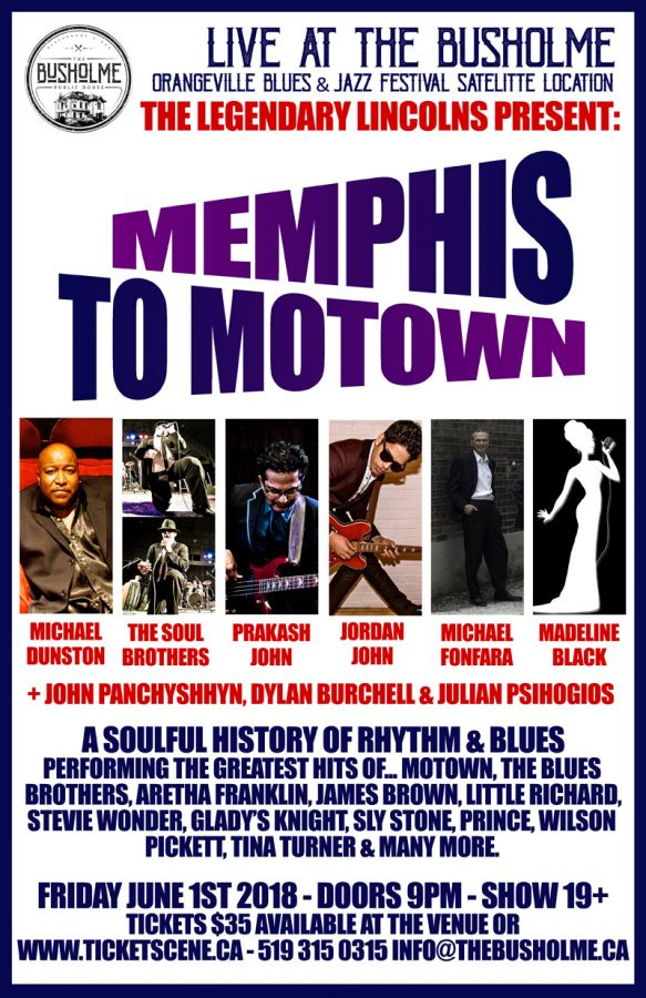 The Legendary Lincolns present Memphis to Motown