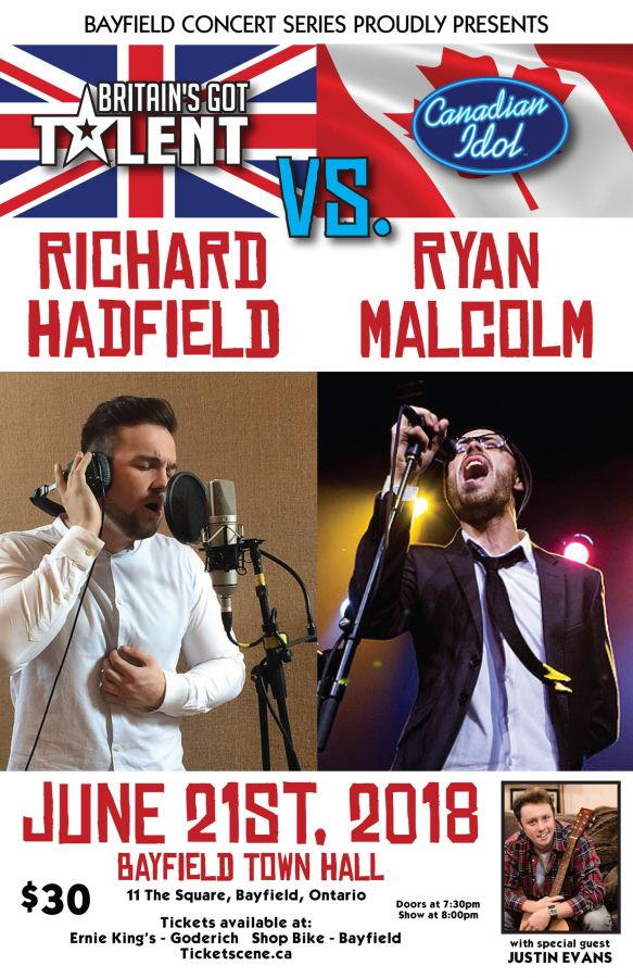 An evening with Richard Hadfield and Ryan Malcolm