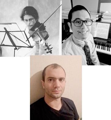 A trio of Mathematicians and an Engineer-violinist in concert