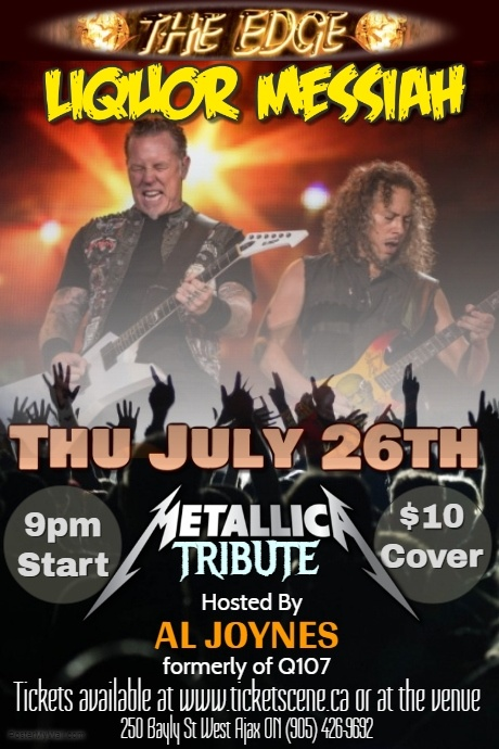 Metallica Tribute featuring