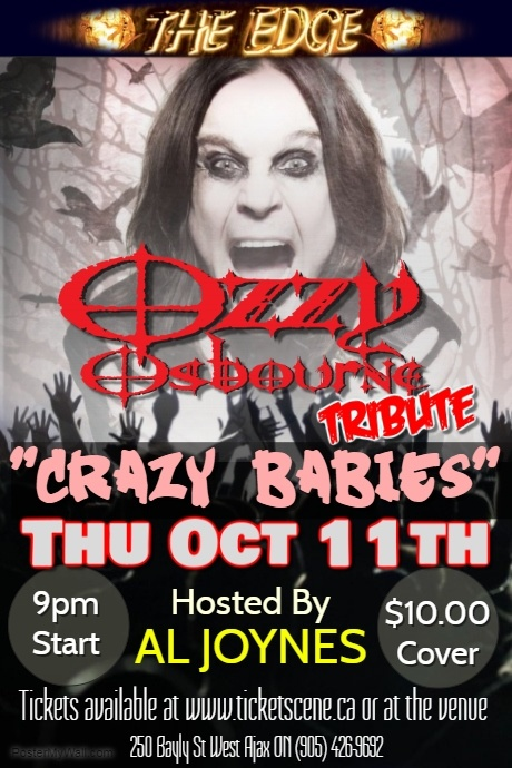Ozzy Osbourne Tribute featuring