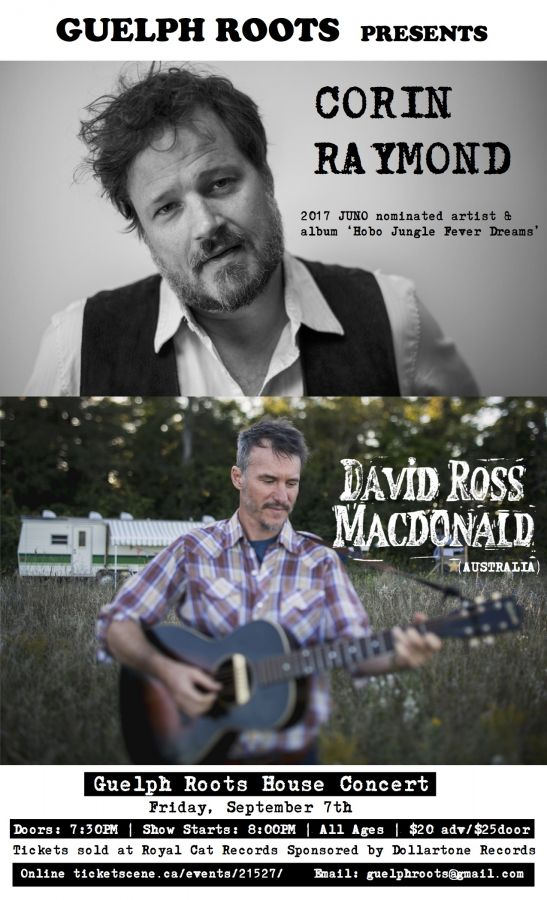 Corin Raymond and David Ross Macdonald, a Guelph Roots presents