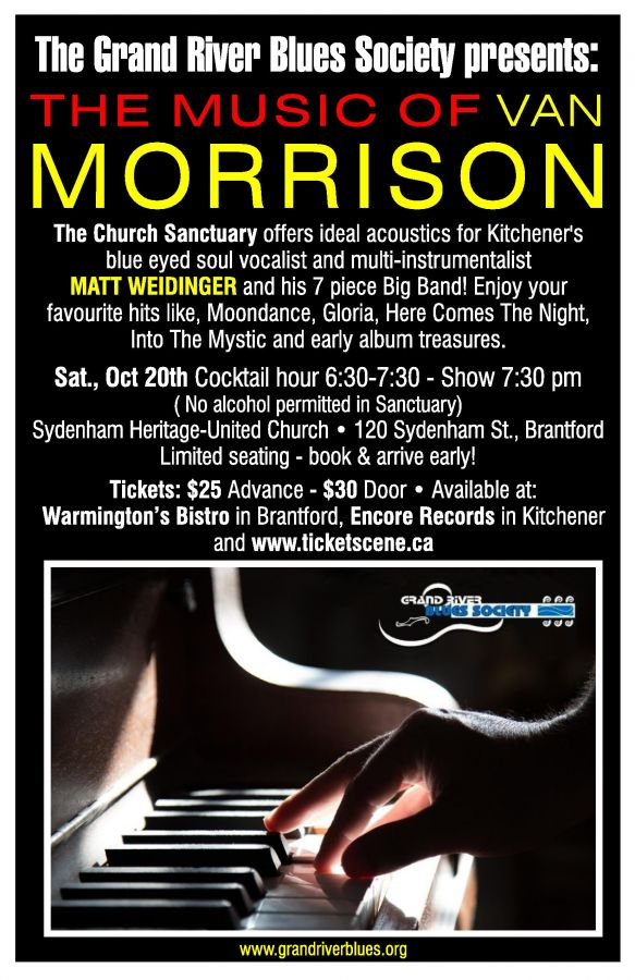 The Music of Van Morrison presented by the Grand River Blues Society