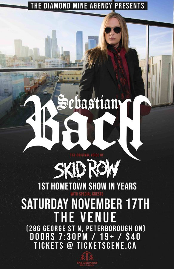 Sebastian Bach (Skid Row) Live In Peterborough November 17th