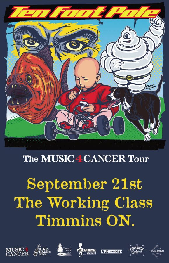 TEN FOOT POLE - Live in Timmins @ The Working Class 'Music 4 Cancer Tour'