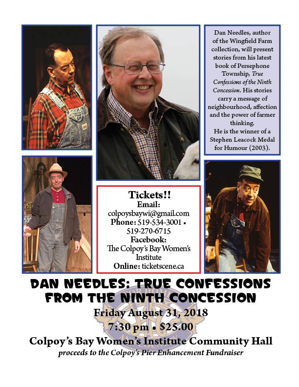 Dan Needles: True Confessions from the Ninth Concession - SOLD OUT