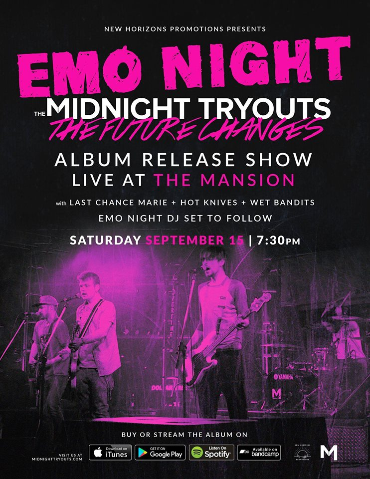 Emo Night + The Midnight Tryouts Album Release Show