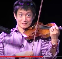 A serious violinist with a local connection