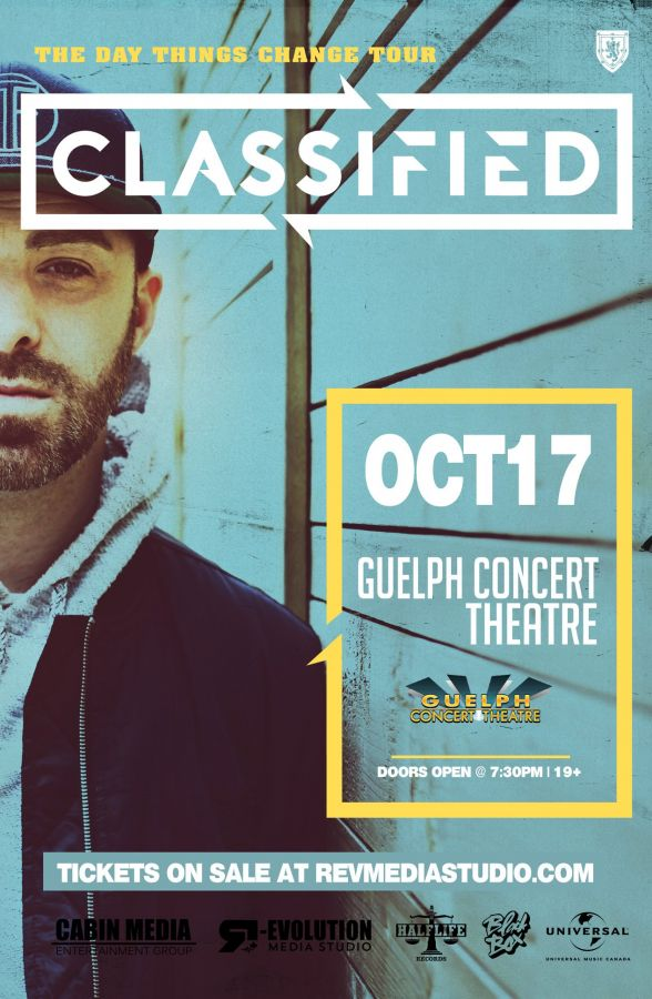 Classified live in Guelph Oct 17 at Guelph Concert Theatre