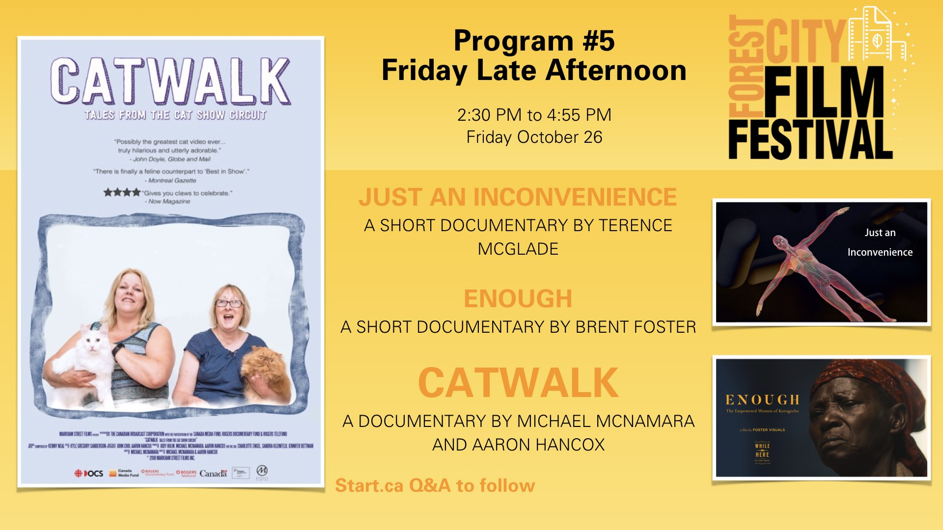 Forest City Film Festival 2018 - Friday Afternoon - Program #5