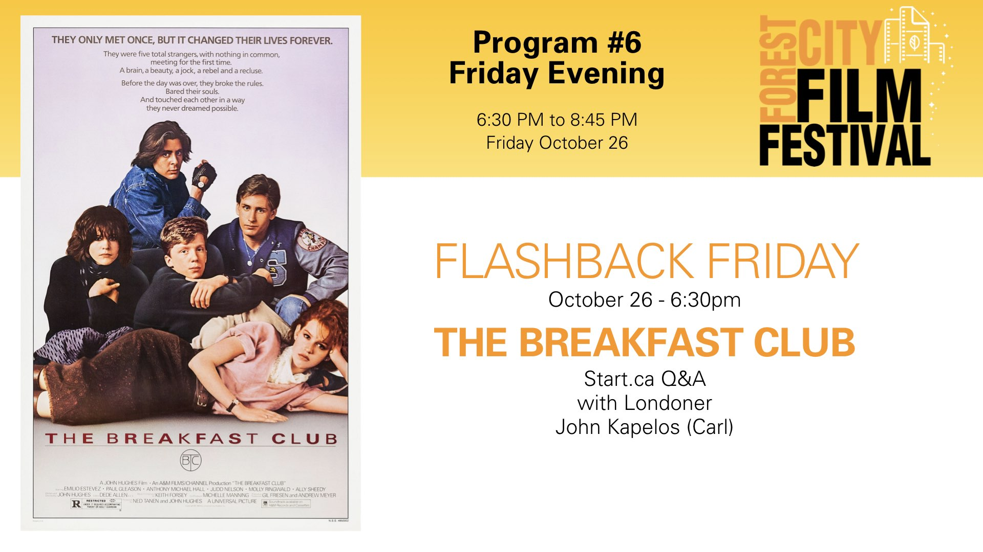 Forest City Film Festival 2018 - FLASHBACK FRIDAY